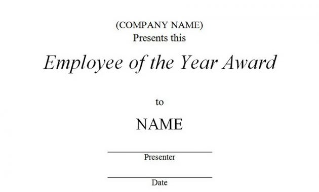 Employee Of the Year Certificate Template Free 12