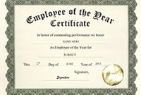 Employee Of the Year Certificate Template Free 5