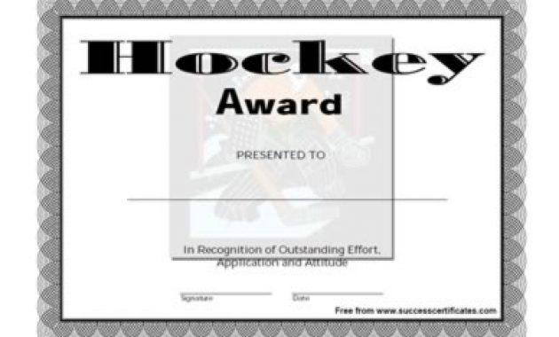 Hockey Certificate Templates 0