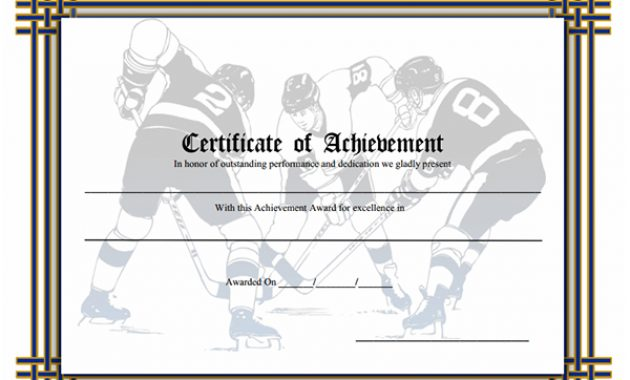 Hockey Certificate Templates 4