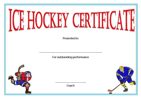 Hockey Certificate Templates