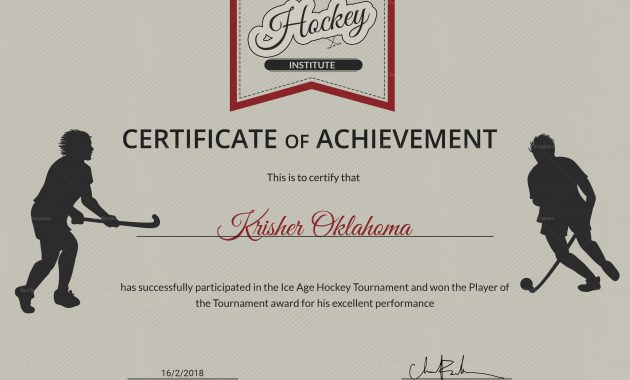Hockey Certificate Templates 6