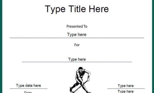 Hockey Certificate Templates 7