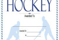 Hockey Certificate Templates 8