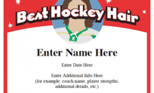 Hockey Certificate Templates 9