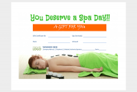 Spa Day Gift Certificate Template 2
