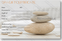 Spa Day Gift Certificate Template 4