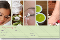 Spa Day Gift Certificate Template 7