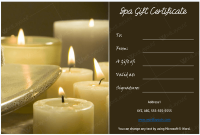 Spa Day Gift Certificate Template 9