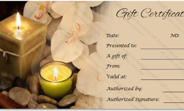 Spa Day Gift Certificate Template v1