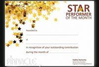 Star Performer Certificate Templates 1