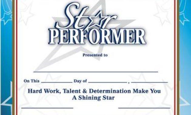 Star Performer Certificate Templates 2