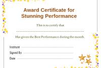 Star Performer Certificate Templates 5