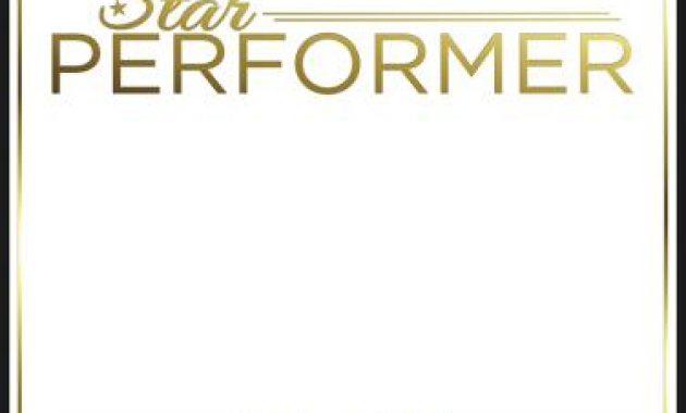 Star Performer Certificate Templates 6