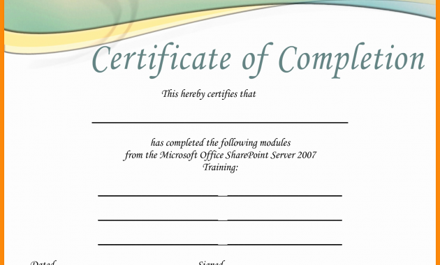 Free Certificate Templates For Word 2007 11 (1)