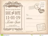 002 Save The Date Postcard Templates Template Ideas Vintage inside Save The Date Postcards Templates