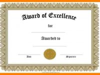 006 Certificate Of Recognition Template Word Ideas Award Templates for Template For Certificate Of Award