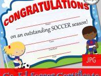13+ Soccer Award Certificate Examples – Pdf, Psd, Ai, Indesign in Soccer Award Certificate Template