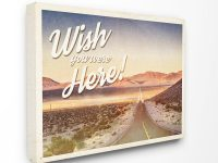 """24 In. X 30 In.""""wish You Were Here Open Road Western Landscape Postcard"""" Artist Ashley Hutchins Canvas Wall Art with Wish You Were Here Postcard Template"""