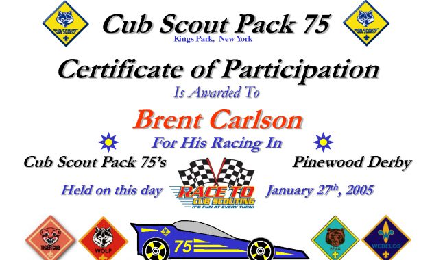 27 Images Of Boy Scout Pinewood Derby Award Template | Bfegy throughout Pinewood Derby Certificate Template