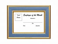 30+ Printable Employee Of The Month Certificates – Template Archive throughout Employee Of The Month Certificate Template