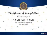 40 Fantastic Certificate Of Completion Templates [Word, Powerpoint] for 5Th Grade Graduation Certificate Template