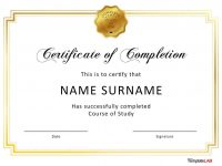 40 Fantastic Certificate Of Completion Templates [Word, Powerpoint] intended for 5Th Grade Graduation Certificate Template