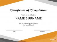 40 Fantastic Certificate Of Completion Templates [Word, Powerpoint] within 5Th Grade Graduation Certificate Template