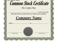 40+ Free Stock Certificate Templates (Word, Pdf) ᐅ Template Lab throughout Corporate Bond Certificate Template