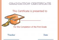5Th Grade Graduation Certificate Template 10