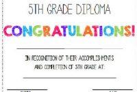 5Th Grade Graduation Certificate Template 2
