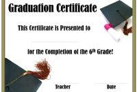 5Th Grade Graduation Certificate Template 3
