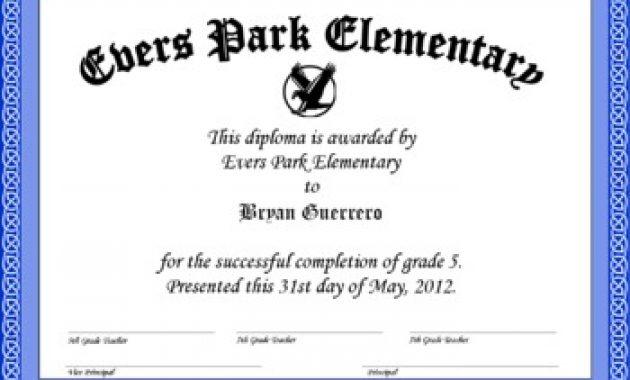 5Th Grade Graduation Certificate Template 4