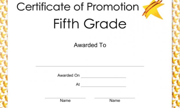 5Th Grade Graduation Certificate Template 5