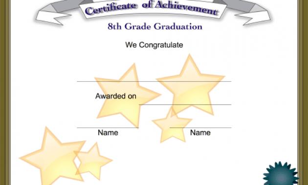 5Th Grade Graduation Certificate Template 6