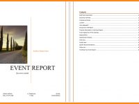 6+ Event Reporting Template | Business Opportunity Program intended for Post Event Evaluation Report Template