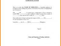 7+ Employment Certification Sample | Nurse Resumed | Yon Youet in Template Of Certificate Of Employment