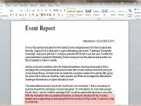 9+ Event Report Template Word | Business Opportunity Program pertaining to Post Event Evaluation Report Template