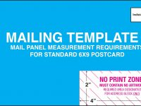 9X6 Postcard Mailing Template – Free Download – D-Templates for 6X9 Postcard Template