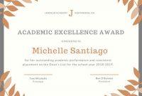 Academic Award Certificate Template 2