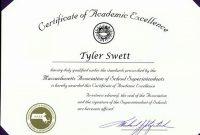 Academic Award Certificate Template 9