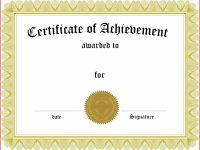 Academic Achievement Award Certificate Template regarding Academic Award Certificate Template