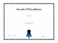Award Template Certificate Borders Award Of Excellenceis Given within Academic Award Certificate Template