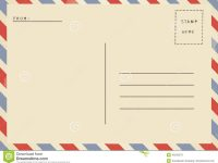 Back Of Airmail Blank Postcard. Stock Illustration – Illustration Of in Airmail Postcard Template