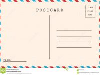 Back Of Airmail Stock Illustration. Illustration Of Brown – 42564094 with regard to Airmail Postcard Template
