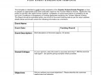 Best Photos Of Post-Event Report Sample – Sample Event Post-Mortem throughout Post Event Evaluation Report Template