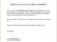 Certificate Employment Sample Format 7 – Elsik Blue Cetane for Template Of Certificate Of Employment