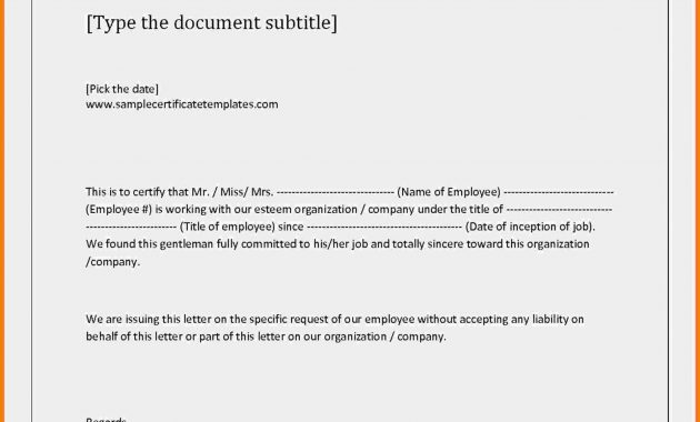 Certificate Of Employment And Compensation Format – Yeder.berglauf throughout Template Of Certificate Of Employment