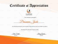 Certificate Of Hockey Template regarding Hockey Certificate Templates