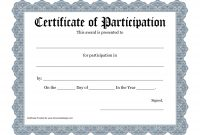 Certificate Of Participation Template Filename | Elsik Blue Cetane in Certificate Of Participation Template Pdf